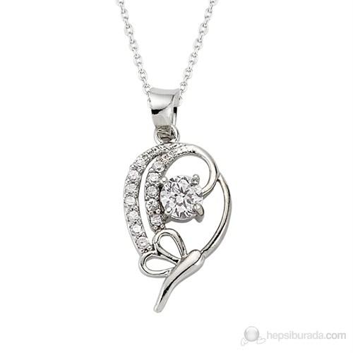Gumush 925 Zirkon Taslı Gümüş Kolye| PND47157060