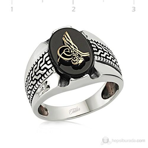 Tekbir Silver 925 Tuğra Gümüş Erkek Yüzük MR0970002