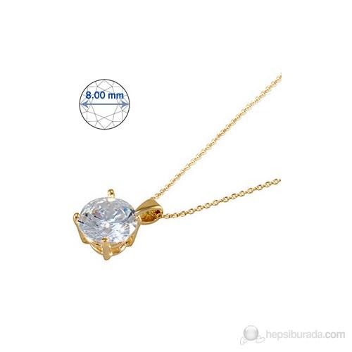Goldstore 14 Ayar Altın Tek Taş Kolye Gsp15872