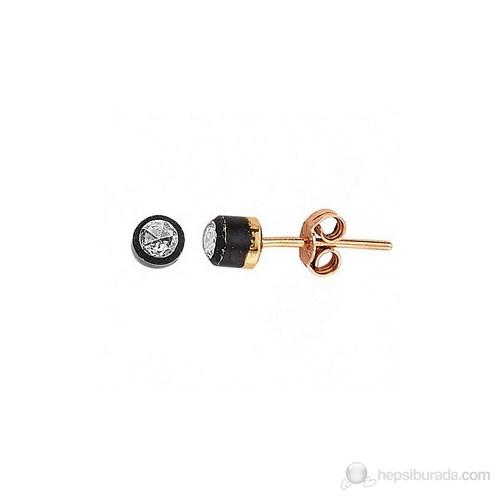 Goldstore 8 Ayar Altın 0.20 Ct Pırlanta Tek Taş Küpe Ee24007