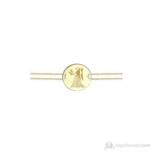 Goldstore 14 Ayar Altın Başak Burcu Bileklik Gb23815