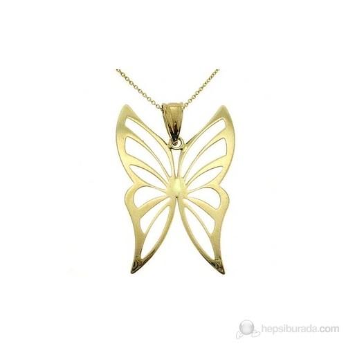 Goldstore 14 Ayar Altın Kelebek Kolye Gp10367