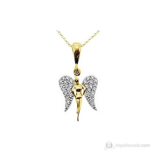 Goldstore 14 Ayar Altın Melek Kolye Gp9725