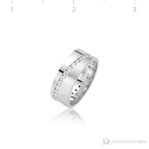 Tekbir Silver 925 Rodyumlu Alyans WR0820065