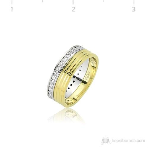 Tekbir Silver 925 Altın Kaplama Alyans WR0820070