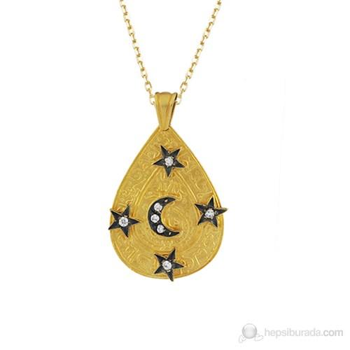 AltınSepeti Ay Yıldızlı Otantik Altın Kolye AS589KL