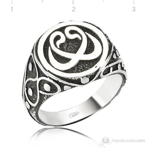 Tekbir Silver 925 Gümüş Çift Vav Erkek Yüzük MR1050003