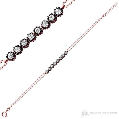 Bella Gloria Altın Kaplamalı Gümüş Rose Suyolu Bileklik (GB00080)