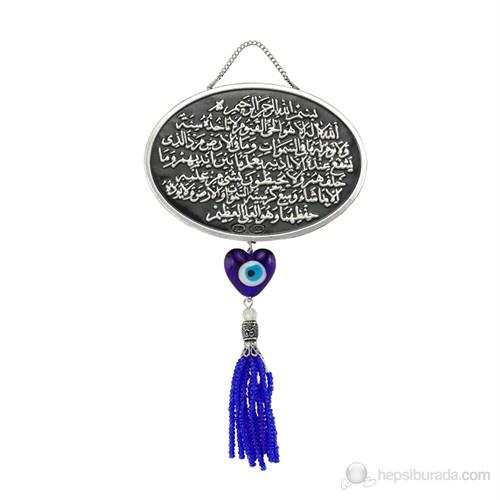 Gumush 925 Püsküllü Ayet-El Kürsi Yazılı Ayet | Kr2550004