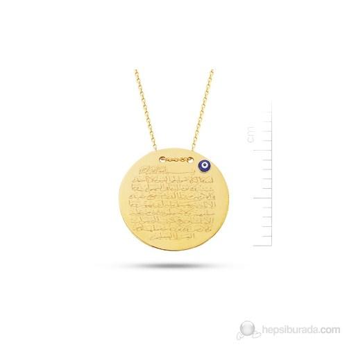 Bella Gloria 14 Ayar 2,51 Gr Altın Ayet-el Kürsi Dualı Plaka Kolye (PP78111)