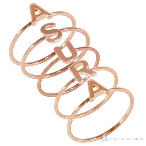 Goldstore 14 Ayar Altın Harf Yüzük PNJ27842