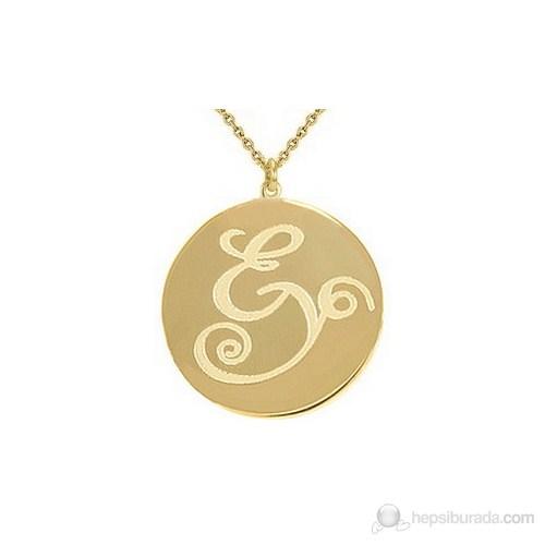 Goldstore 14 Ayar Altın Madalyon İsim Kolye PNJMP24316