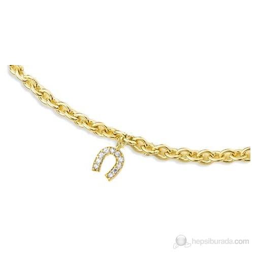Melis Gold Altın Nal Zincirli Bileklik ZB000089