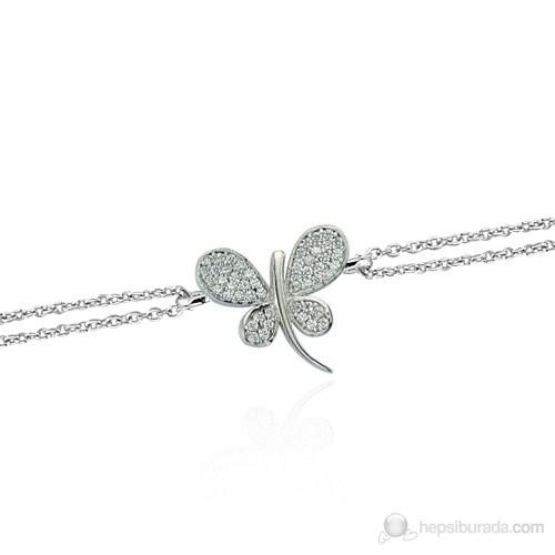 Glorria 925 Ayar Gümüş Kelebek Bileklik
