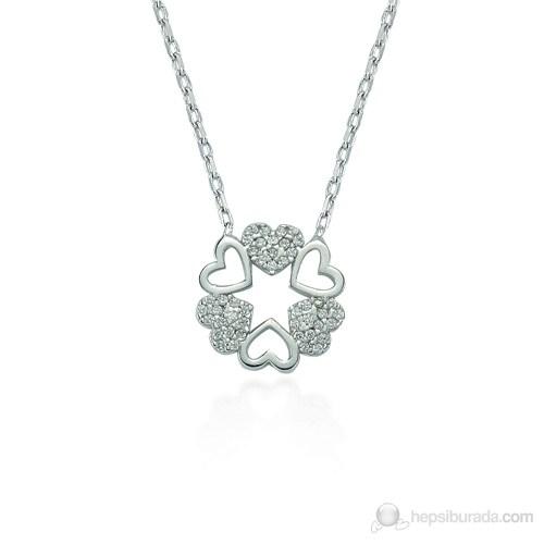 Glorria 925 Ayar Gümüş Kalp Kolye