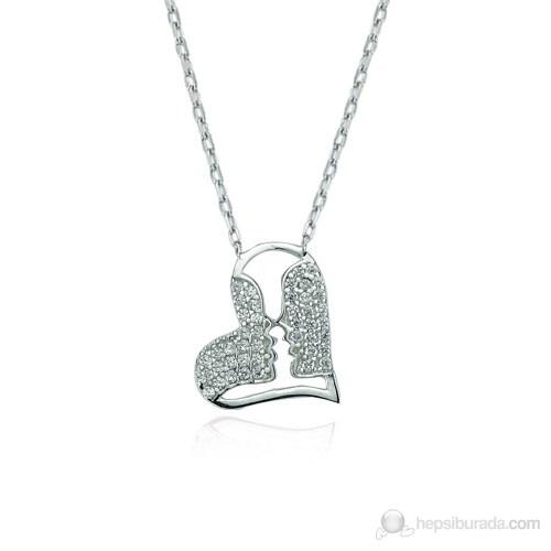 Glorria 925 Ayar Gümüş Aşk Kolye