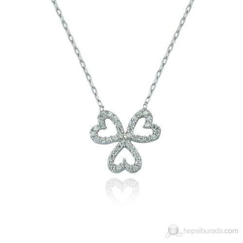 Glorria 925 Ayar Gümüş Üç Kalp Kolye