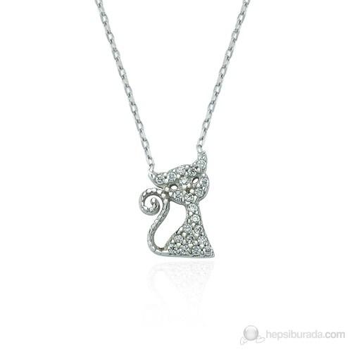 Glorria 925 Ayar Gümüş Kedi Kolye