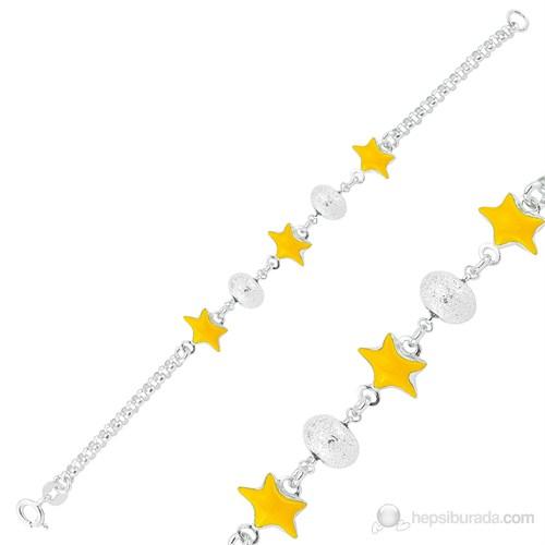 Gumush 925 Sarı Yıldız Çocuk Bileklik Br1160005