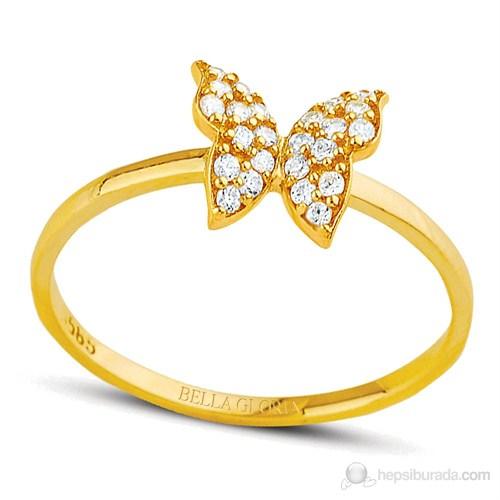 Bella Gloria Altın Kelebek Yüzük (PR78108)