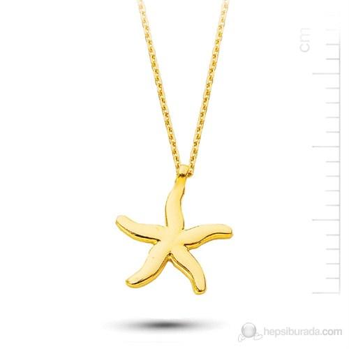 Bella Gloria Altın Deniz Yıldızı Kolye (Pp78180)