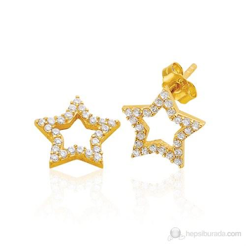 Bella Gloria Yıldız Altın Küpe (Pe78084)