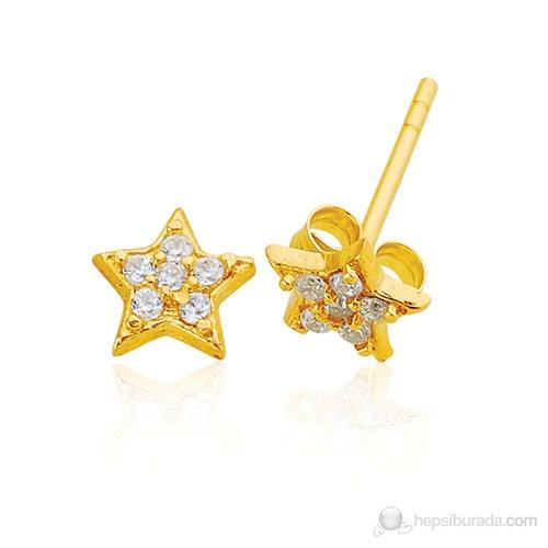 Bella Gloria Yıldız Altın Küpe (Pe78116)