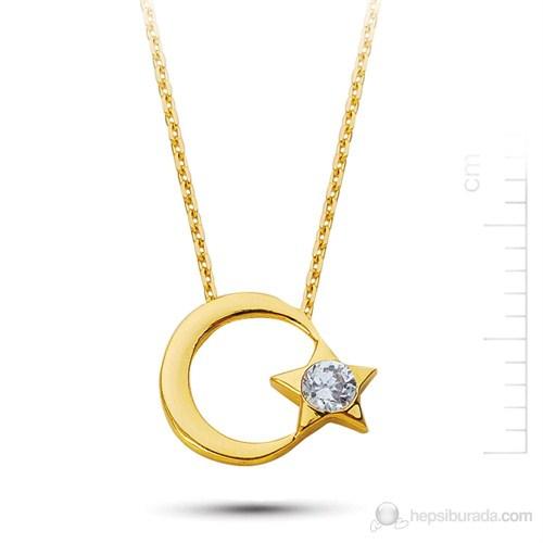 Bella Gloria Altın Ayyıldız Kolye (Pp78173)
