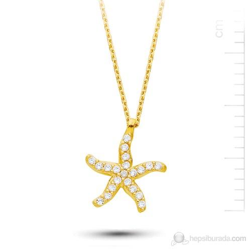 Bella Gloria Altın Deniz Yıldızı Kolye (Pp78210)