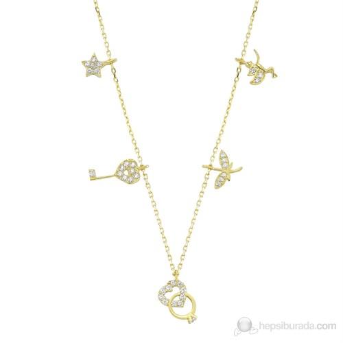 Mardeluz Altın Taşlı Şans Kolye MDLZ1547