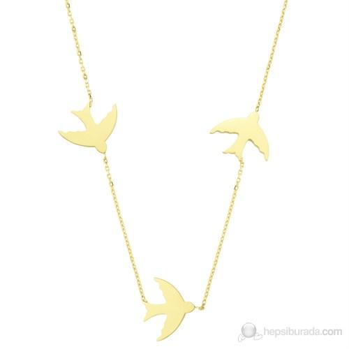 Mardeluz Altın Kuş Kolye MDLZ1550