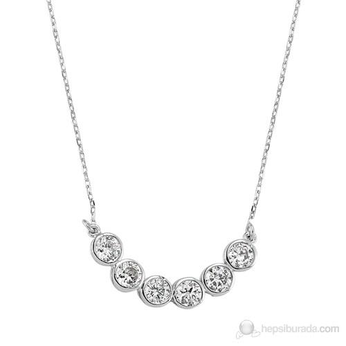 Silver & Silver Sıra Taş Kolye