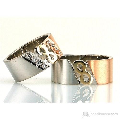Berk Kuyumculuk Gümüş Alyans 5521 (Çift Fiyatı)