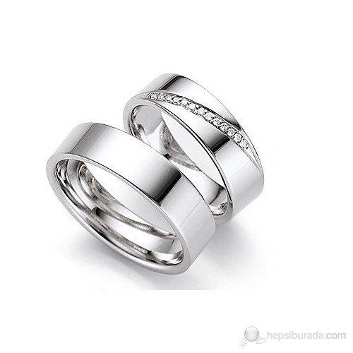 Berk Kuyumculuk Gümüş Alyans 5551 (Çift Fiyatı)