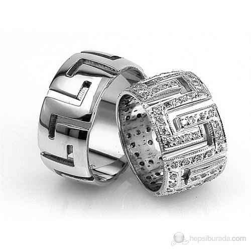 Berk Kuyumculuk Gümüş Alyans 5555 (Çift Fiyatı)
