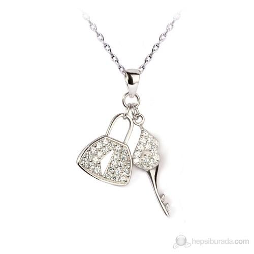 eJOYA Kilit Anahtar Gümüş Kolye