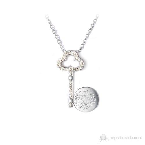 eJOYA Kalbimin Anahtarı Gümüş Kolye