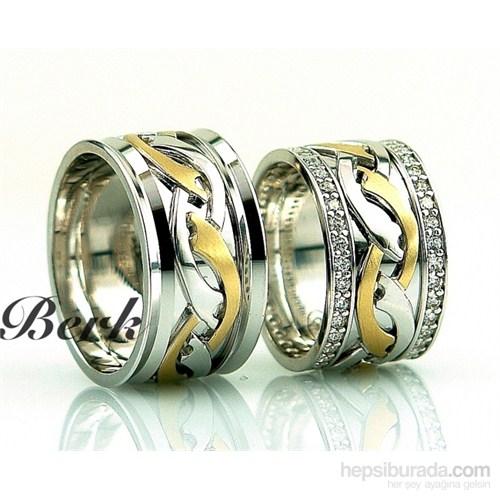 Berk Kuyumculuk Gümüş Alyans 5564 (Çift Fiyatı)