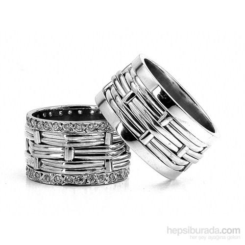 Berk Kuyumculuk Gümüş Alyans 5566 (Çift Fiyatı)