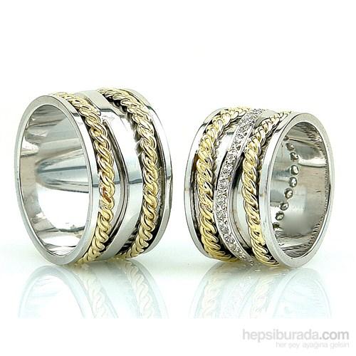 Berk Kuyumculuk Gümüş Alyans 5569 (Çift Fiyatı)