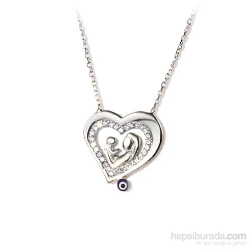 Ejoya Gümüş Nazarlı Kalp Kolye
