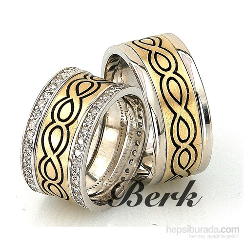 Berk Kuyumculuk Gümüş Alyans 5572 (Çift Fiyatı)