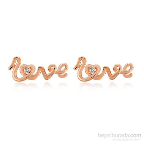 Melin Paris Pırlantalı Love Küpe