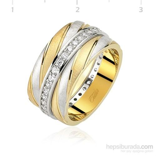 Tekbie Silver 925 Altın Kaplama Bayan Alyans
