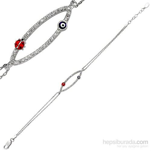 Bella Gloria Şans Ovali Gümüş Bileklik (GB00097)