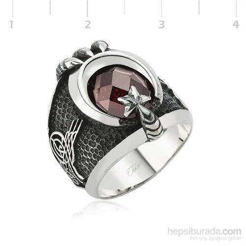 Tekbir Silver 925 Ayyıldız Pençe Gümüş Yüzük