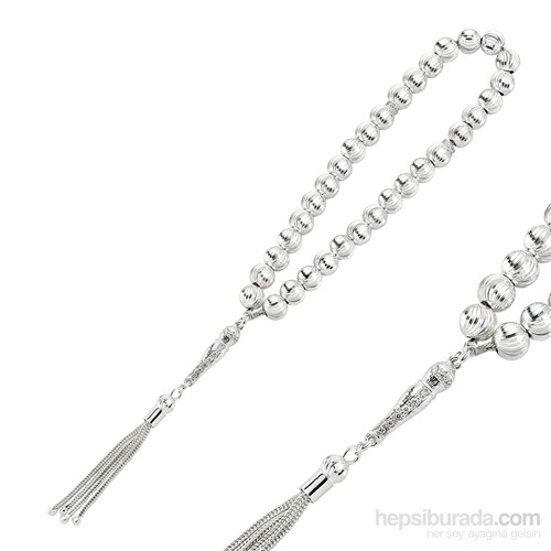 Gumush 925 Kalemli Gümüş Tesbih
