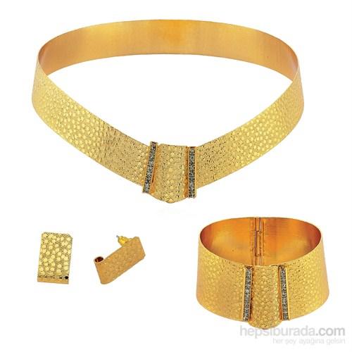 Forentina Altın Kaplama Pullu Set FR0011 - Kredi Kartına 6 Taksit Avantajıyla !!