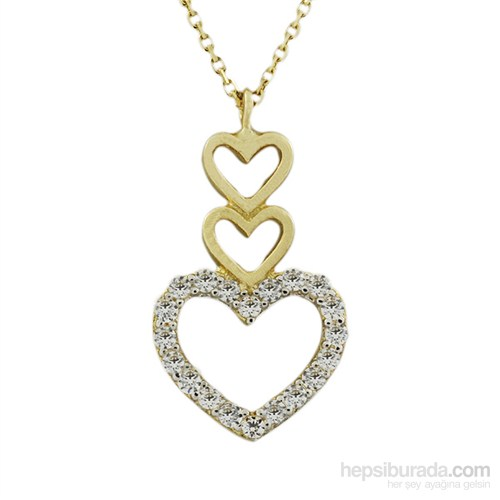 AltınSepeti 14 Ayar Yeşil Altın Kalp Kolye AS638KL