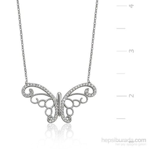 Gumush Gümüş Kelebek Kolye
